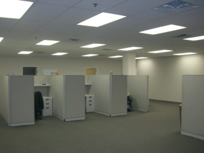Row of Cubicles in Flex Space